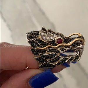 John Hardy Pave Naga Dragon Head Ring
